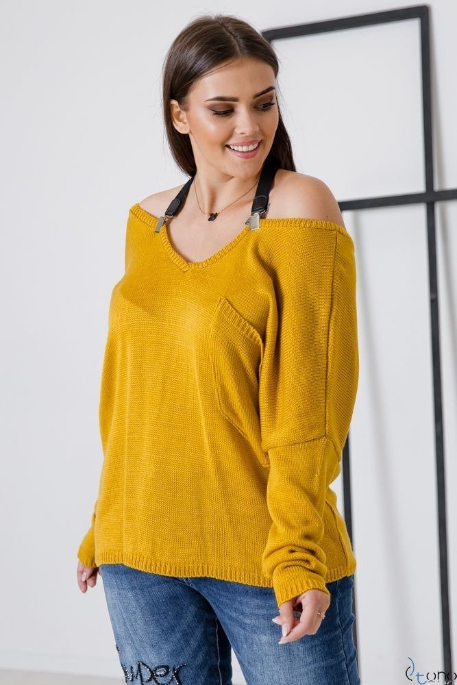 SWETER LARGOS PLUS SIZE TONO